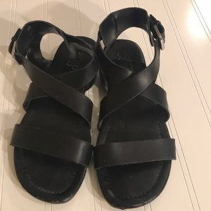 Franco Sarto Shoes - Franco Sarto Black Strappy Sandal - Sz 6